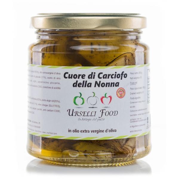 Urselli Food - Cuore di Carciofo della Nonna in Olio Extravergine di Oliva - Olio di Alta Qualità Italiano - Puglia