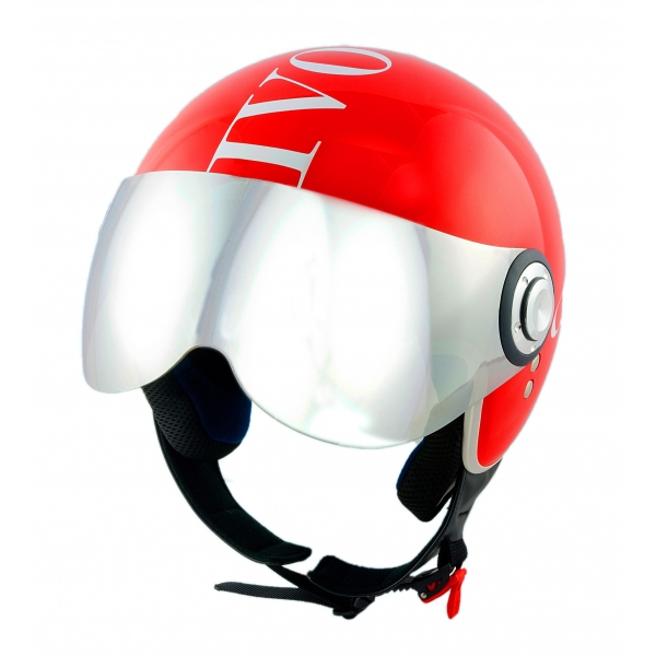 Divo Diva - Shiny Red - Special Edition - Osbe Italy - Motorcycle Helmet - High Quality - Made in Italy