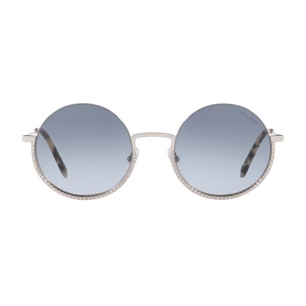 Miu Miu - Occhiali Miu Miu Societe - Rotondi - Grigio - Occhiali da Sole - Miu Miu Eyewear