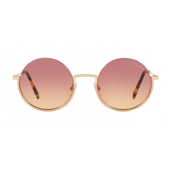 Miu Miu - Miu Miu Societe Sunglasses - Round - Violet Pale Gold - Sunglasses - Miu Miu Eyewear