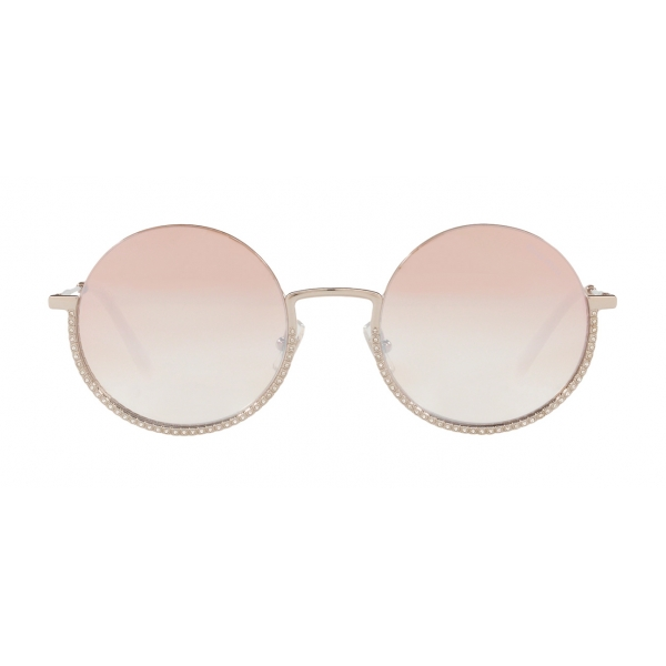 Miu Miu - Miu Miu Societe Sunglasses - Round - Gray - Sunglasses - Miu Miu Eyewear
