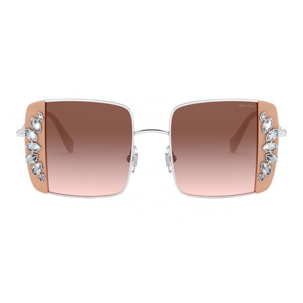 Miu Miu - Miu Miu Noir Sunglasses - Square - Cameo and Crystals - Sunglasses - Miu Miu Eyewear