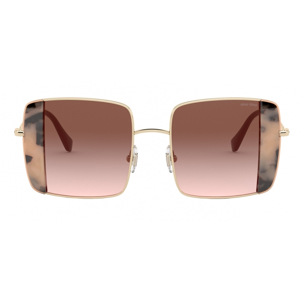Miu Miu - Miu Miu Noir Sunglasses - Square - Tortoise and Pink - Sunglasses - Miu Miu Eyewear
