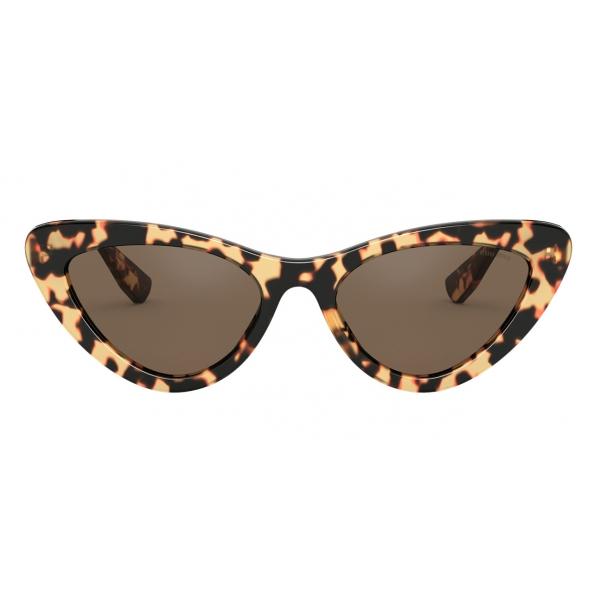 Miu Miu - Miu Miu Logo Sunglasses - Alternative Fit - Cat Eye - Tortoise - Sunglasses - Miu Miu Eyewear
