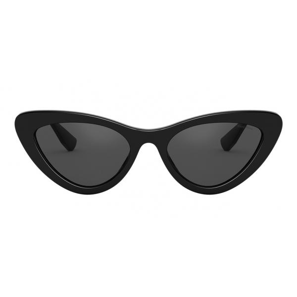 Miu Miu - Occhiali Miu Miu Logo - Cat Eye - Nero - Occhiali da Sole - Miu Miu Eyewear