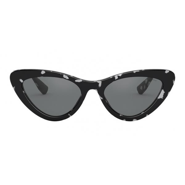 Miu Miu - Occhiali Miu Miu Logo - Cat Eye - Nero e Bianco - Occhiali da Sole - Miu Miu Eyewear