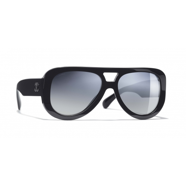 Chanel - Pilot Sunglasses - Dark Blue Mirror - Chanel Eyewear