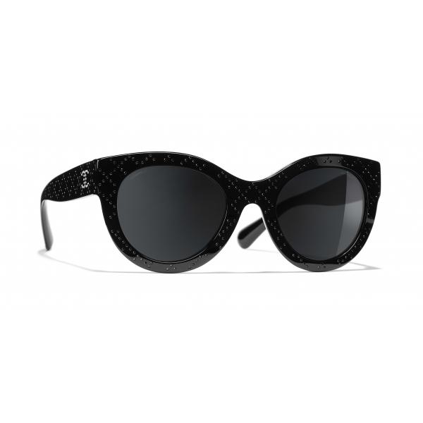 Chanel - Occhiali a Farfalla da Sole - Nero Grigio - Chanel Eyewear