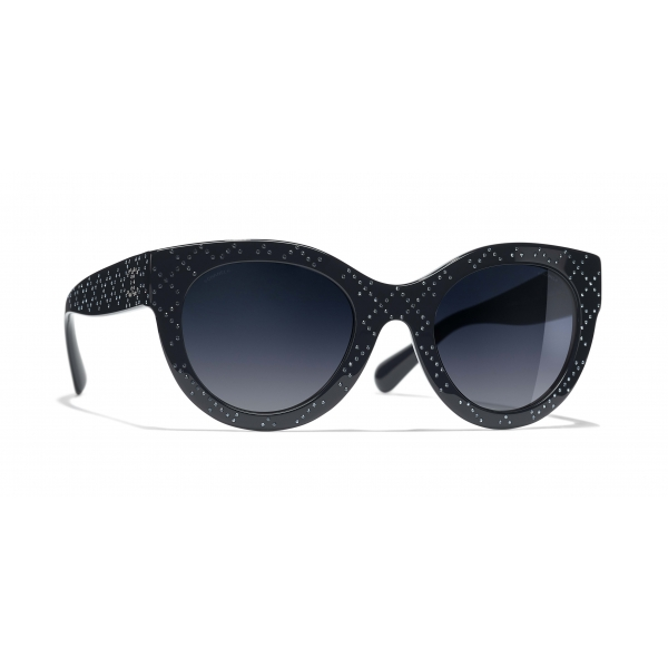 Chanel - Occhiali a Farfalla da Sole - Blu Scuro Graduato - Chanel Eyewear