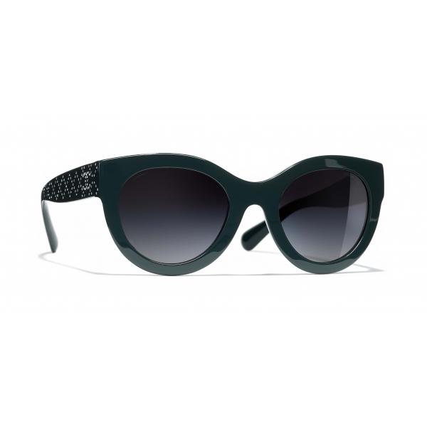 Chanel - Butterfly Sunglasses - Dark Green Gray Gradient - Chanel Eyewear