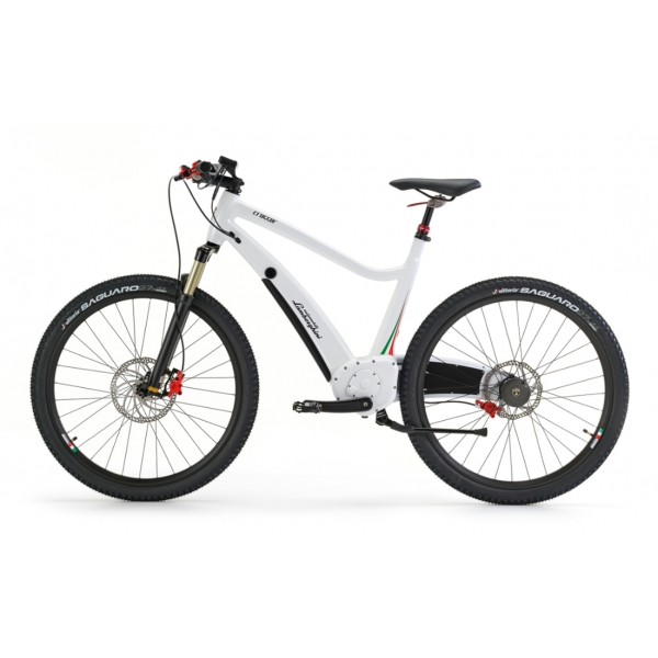 TecknoMonster - Automobili Lamborghini - e Bike - Crosser - White - The Most Evolved Bicycle - Exclusive Luxury