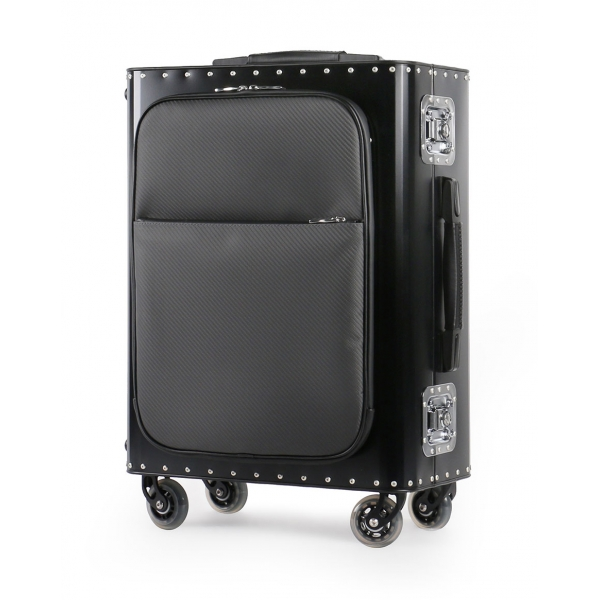 TecknoMonster - Kronos L Flap TecknoMonster - Nero - Trolley in Titanio e Carbonio Aeronautico
