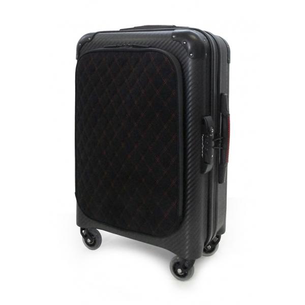 TecknoMonster - Valigia Davis Kripto Cabin L Flap in Fibra di Carbonio - Trolley in Carbonio Aeronautico