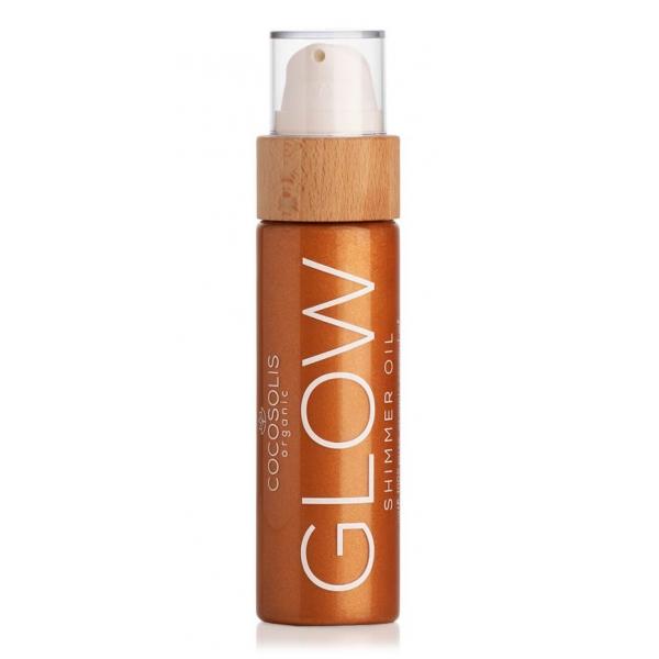 Cocosolis - Glow - Shimmer Oil - Olio Secco Illuminante ed Idratante Naturale - Cosmetici Professionali