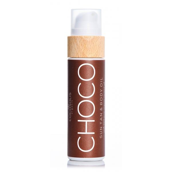 Cocosolis - Choco - Sun Tan Body Oil - Olio Organico per Abbronzatura - Pelle Idratata e Radiosa - Cosmetici Professionali