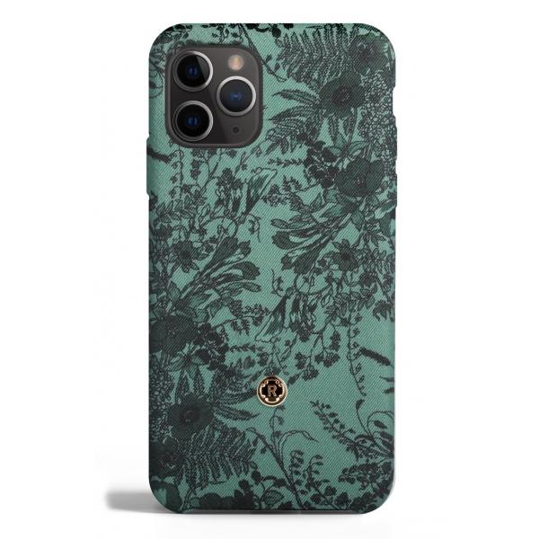 Revested Milano - Jardin - Sage - iPhone 11 Pro Case - Apple - Cover Artigianale in Seta