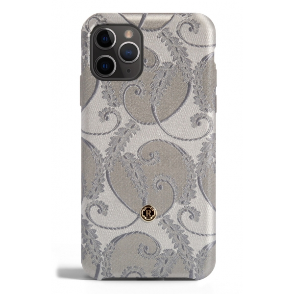 Revested Milano - Silver of Florence - iPhone 11 Pro Case - Apple - Cover Artigianale in Seta