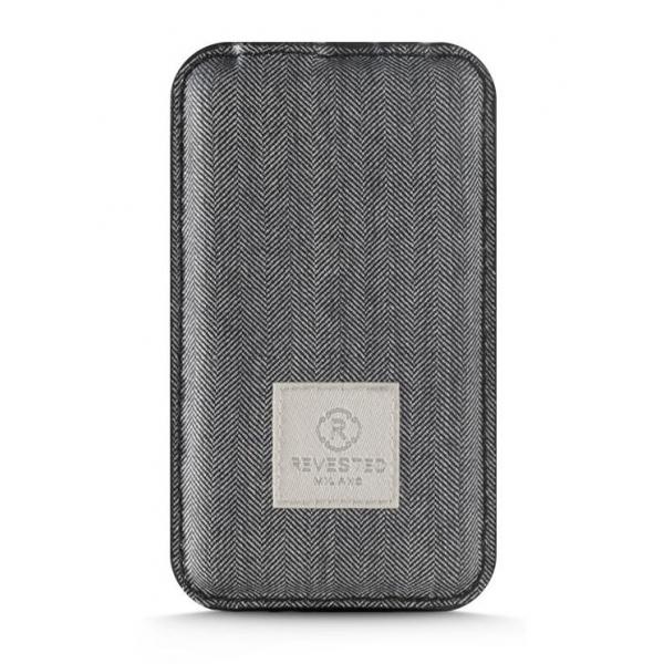 Revested Milano - Herringbone - Power Bank - 4000 mAh - iPhone - Apple - Samsung - Artisan Fabric Cover