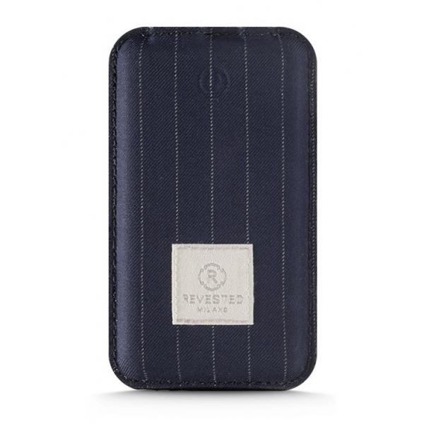 Revested Milano - Pinstripe - Power Bank - 4000 mAh - iPhone - Apple - Samsung - Artisan Fabric Cover