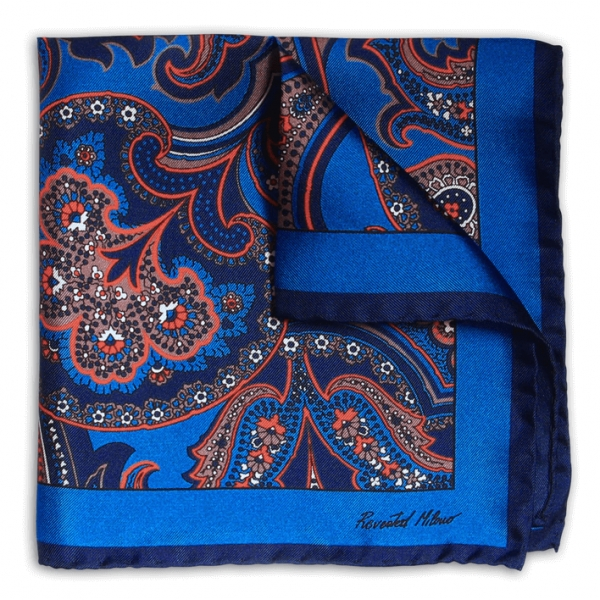 Revested Milano - 1937 - Pocket Square - Artisan Silk Foulard - Handmade in Italy