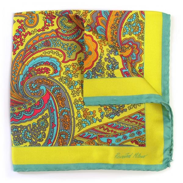 Revested Milano - 7 Veils - Pocket Square - Foulard Artigianale in Seta - Handmade in Italy