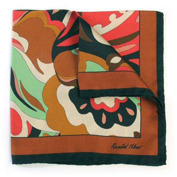 Revested Milano - Lakeshore - D'Este - Pocket Square - Artisan Silk Foulard - Handmade in Italy