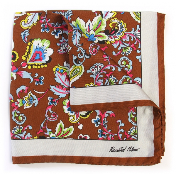 Revested Milano - Alchimist - Breva - Pocket Square - Artisan Silk Foulard - Handmade in Italy