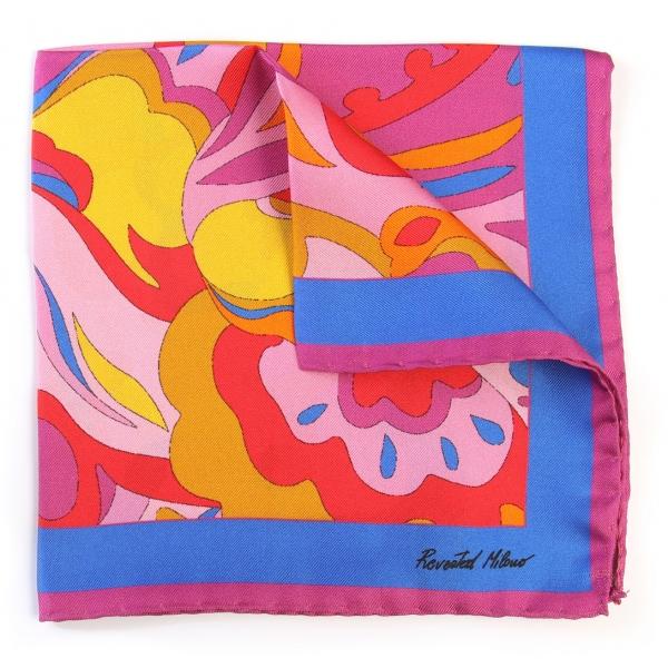 Revested Milano - Lakeshore - Carlotta - Pocket Square - Foulard Artigianale in Seta - Handmade in Italy