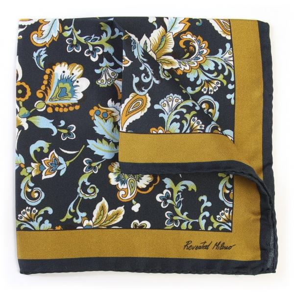 Revested Milano - Alchimist - Tivano - Pocket Square - Artisan Silk Foulard - Handmade in Italy