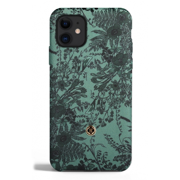 Revested Milano - Jardin - Sage - iPhone 11 Case - Apple - Cover Artigianale in Seta