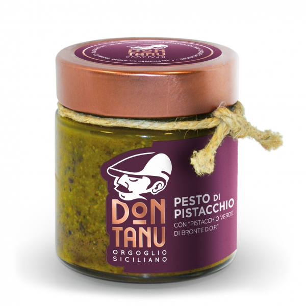Don Tanu - Pistachio Green Pesto from Bronte P.D.O. - Preserved Foods - Sicily - Italy - 190 g