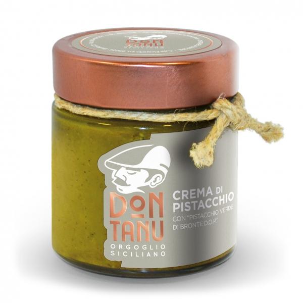 Don Tanu - Crema Spalmabile Dolce di Pistacchio Verde di Bronte D.O.P. - Creme Artigianali - Sicilia - Italia - 200 g