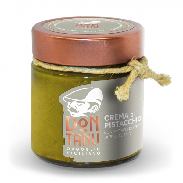 Don Tanu - Sweet Spreadable Cream of Green Pistachio from Bronte P.D.O. - Artisan Sweets - Sicily - Italy - 200 g