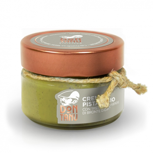 Don Tanu - Sweet Spreadable Cream of Green Pistachio from Bronte P.D.O. - Artisan Sweets - Sicily - Italy - 100 g