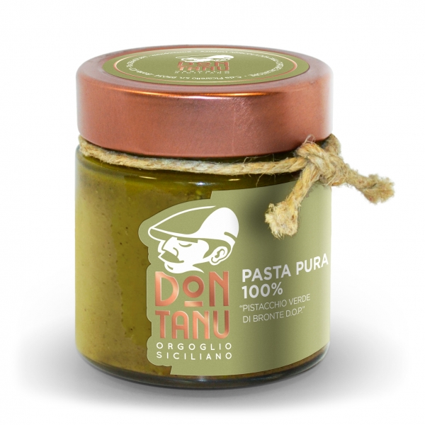 Don Tanu - Pure Paste of Green Pistachio from Bronte P.D.O. - Artisan Paste - Sicily - Italy - 200 g