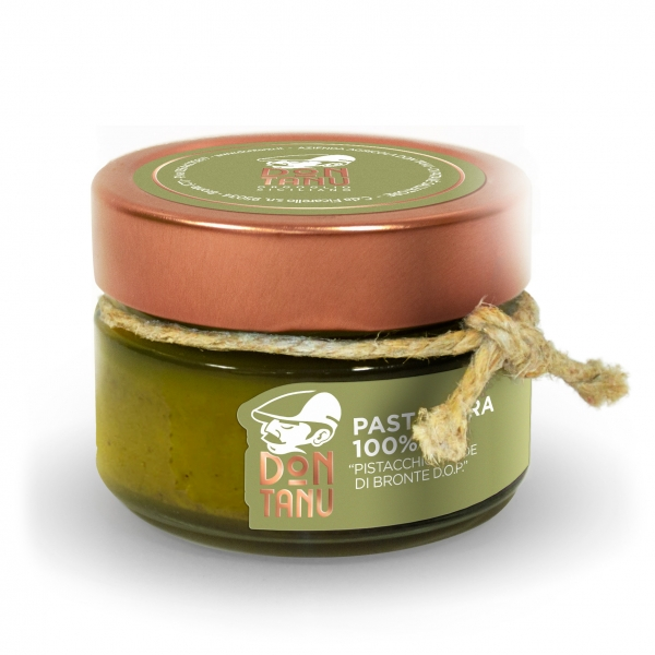 Don Tanu - Pure Paste of Green Pistachio from Bronte P.D.O. - Artisan Paste - Sicily - Italy - 100 g