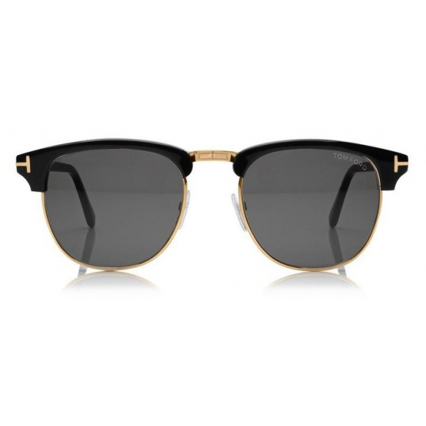 Tom Ford Henry Sunglasses Round Acetate Sunglasses Black Ft0248 Sunglasses Tom Ford Eyewear Avvenice