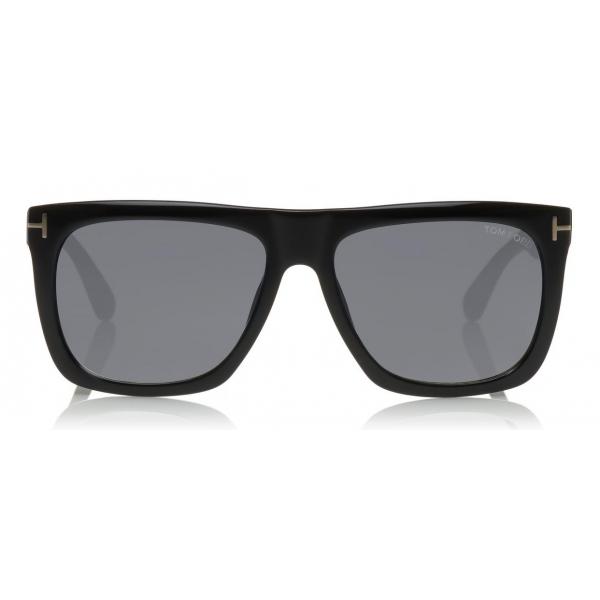 Tom Ford Morgan Sunglasses Squared Acetate Sunglasses Black Smoke Ft0513 Sunglasses Tom Ford Eyewear Avvenice