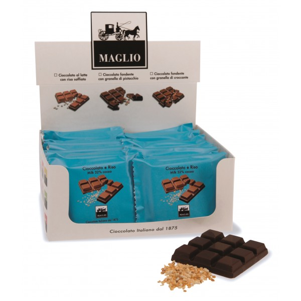Cioccolato Maglio - Snack Bar - Chocolate with Rice - Milk 32 % Cocoa