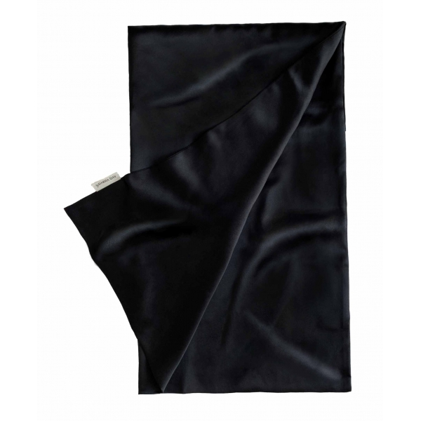 by Dariia Day - Silk Pillowcase - Midnight Black - Bedding - Home - Mulberry Silk - Artisan Silk Pillowcase - Luxury