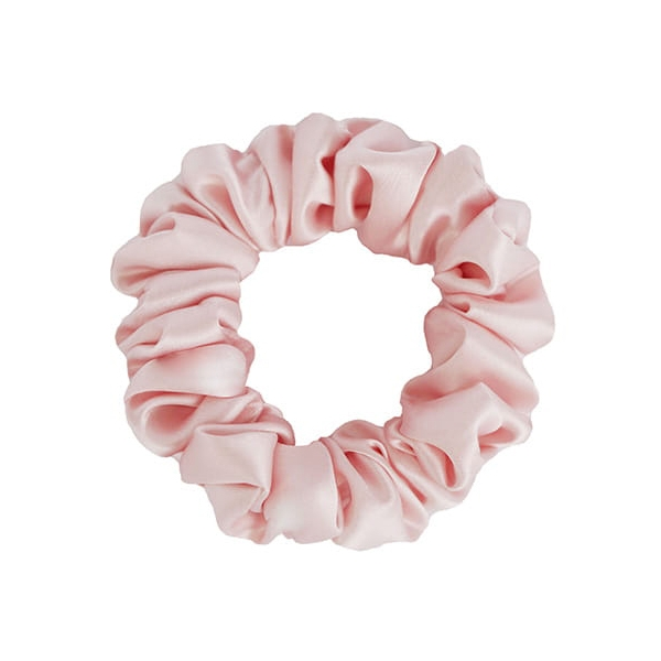 by Dariia Day - Silk Scrunchie - Blush Pink - Fashion - Accessories - Mulberry Silk - Artisan Silk Scrunchie - Luxury