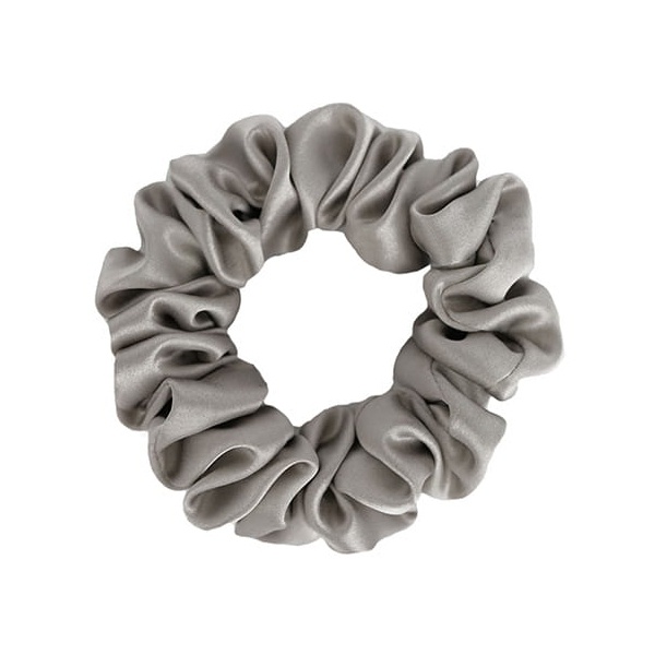 by Dariia Day - Silk Scrunchie - Silver Grey - Fashion - Accessories - Mulberry Silk - Artisan Silk Scrunchie - Luxury