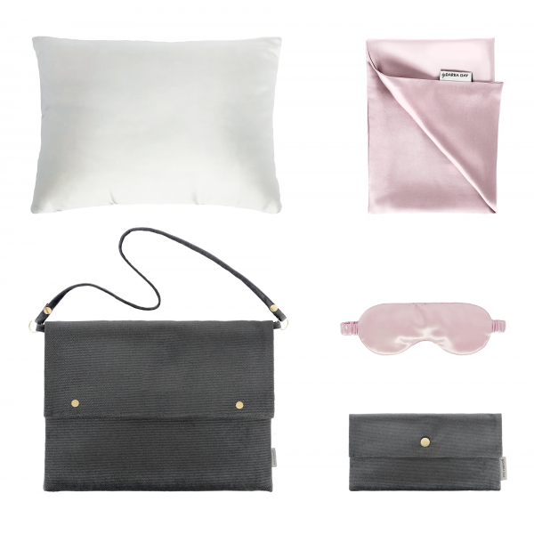 by Dariia Day - Silk Travel Set - Blush Pink - Bedding - Home - Mulberry Silk - Artisan Silk Pillowcase - Luxury
