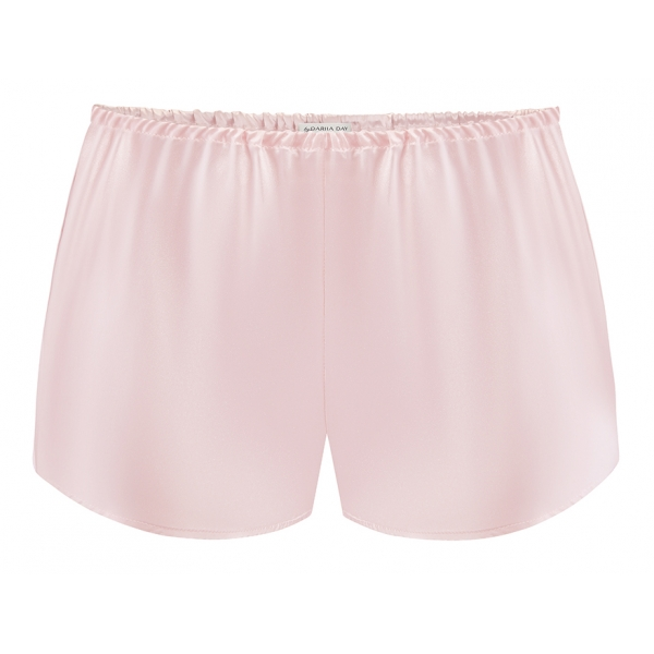 by Dariia Day - Silk Shorts - Blush Pink - Fashion - New Collection - Mulberry Silk - Artisan Silk Shorts - Luxury