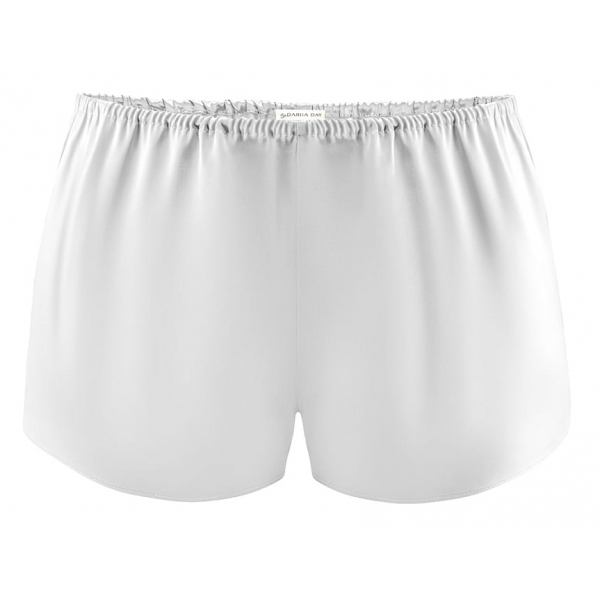 by Dariia Day - Silk Shorts - Silver Grey - Fashion - New Collection - Mulberry Silk - Artisan Silk Shorts - Luxury