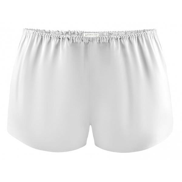 by Dariia Day - Silk Shorts - Silver Grey - Fashion - New Collection - Mulberry Silk - Artisan Silk Shorts - Luxury