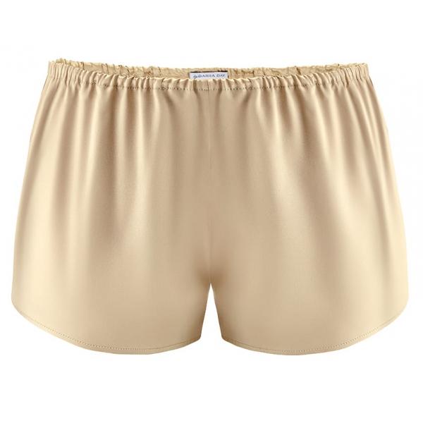 by Dariia Day - Shorts in Seta - Beige Francese - Fashion - New Collection - Seta Gelso - Shorts Artigianali - Luxury