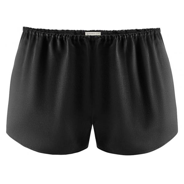 by Dariia Day - Shorts in Seta - Nero Midnight - Fashion - New Collection - Seta Gelso - Shorts Artigianali - Luxury
