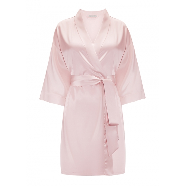 by Dariia Day - Silk Robe - Blush Pink - Fashion - New Collection - Mulberry Silk - Artisan Silk Robe - Luxury