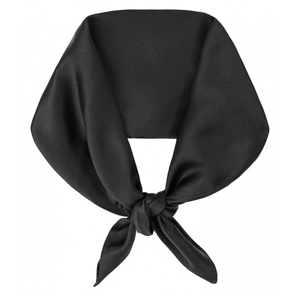 by Dariia Day - Silk Scarf Square - Black Midnight - Fashion - New Collection - Mulberry Silk - Artisan Silk Scarf - Luxury
